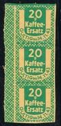 Tres Cupones Racionamiento ALEMANIA 1943. World War II, 20 Gr Kaffee Ersatz - Posta Privata