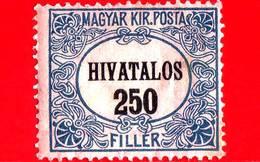 UNGHERIA - Nuovo - 1921 - Francobolli Ufficiali - Numeri - Servizio - 250