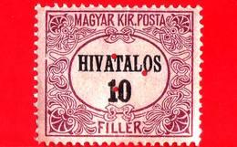 UNGHERIA - Nuovo - 1921 - Francobolli Ufficiali - Numeri - Servizio - Triangular Punching - 10