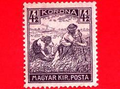 UNGHERIA - Nuovo - 1922 - Agricoltura - Raccolti - Mietitore - 4 ½