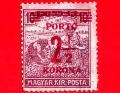 UNGHERIA - Nuovo - 1922 - Agricoltura - Raccolti - Mietitore - Sovrastampato 2 ½ Su 10