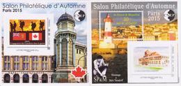 """Yvert N° 69 Et N° 70 - CNEP """"Salon D´automne PARIS 2015"""""""
