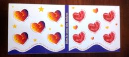 France Carnet Bonne Fête Je T'aime, 10 Timbres Adhésifs 1999 BC N°25 - Carnets