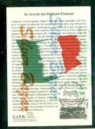 TRIESTE-IN RICORDO DEI DALMATI-FIUMANI-C.I.F.R. - ESODO DEGLI ITALIANI-ANNULLO SPECIALE-MARCOFILIA - Guerra 1939-45