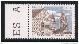 FRANCE 2012 Un Timbre (1) YTN° 4686** Verneuil-sur-Avre Eure La Bibliothèque J. Carcopino Et La Tour De La Madeleine BDF