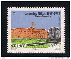 FRANCE-2012 -un Timbre (1) YT N° 4685** Camp Des Milles D´internement Et Wagon Aix-en-Provence