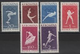 RO 473 - ROUMANIE N° 1720/25 Neufs** J.O. ROME - Neufs