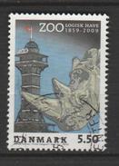 "DANEMARK ,N°1533 ""ZOO DE COPENHAGUE TÊTE DE RHINOCÉROS """