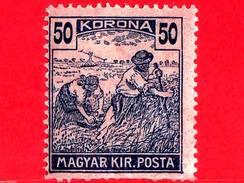 UNGHERIA - Nuovo - 1923 - Agricoltura - Raccolti - Mietitore - 50