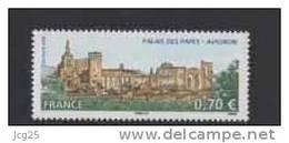 FRANCE 2009-Un Timbre LE PALAIS DES PAPES Avignon -gommé N° YT 4348- 0.70€ BDF 1.40