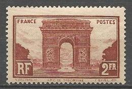 ARC DE TRIOMPHE N° 258 NEUF* CHARNIERE / TB