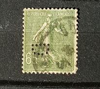 YT234 - Type Semeuse - 65c  - Perforé D - Oblitéré