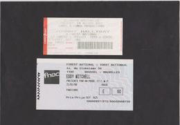 TICKETS DE CONCERT /// HALLYDAY - MITCHELL - RENAUD - AZNAVOUR - LAMA . - Konzertkarten