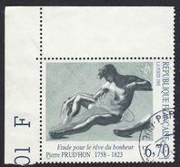FRANCE Francia Frankreich - 1995 , Yvert 2927 Oblitéré - Étude Pour Le Rêve Du Bonheur œuvre De Pierre Prud'hon