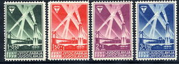 YUGOSLAVIA 1938 International Air Exhibition Set LHM / *.  Michel 354-57 - Unused Stamps