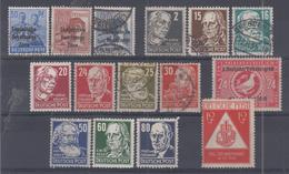 ALLEMAGNE - ZONE SOVIETIQIUE - 1 + 3/7 + 20/22 + 31/32 + 37/42 +44/46 + 51A** * Obli (quelques Ex Rousseurs) Cote 14 Eur