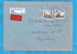 1999  TURISMO TREBINJE-BANJA LUKA  RECCO ZETTEL PAPIER LUCID   BOSNIA HERZEGOVINA REPUBLIKA SRPSKA  BRIEF  INTERESSANT