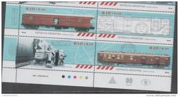 ARGENTINA ,2016,MNH, TRAINS, 4v