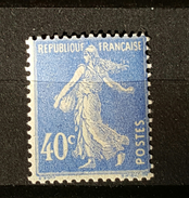 YT237 - Type Semeuse - 40c - Outremer - Neuf Trace Charniere