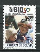 Bolivia 2009 The 50th Anniversary Of The BID, InterAmerican Bank Of Developmen.MNH