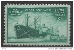 1946 3 Cents Merchant Marine Mint Never Hinged