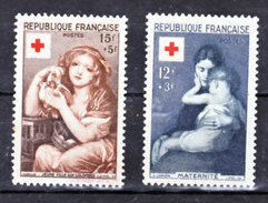 France 1006 1007 Croix Rouge 1954 Neuf **  TB  MNH Sin Charnela Cote 30