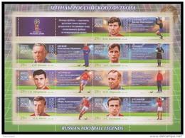 RUSSIA 2016 Sheet MNH ** VF WORLD CUP 2018 FOOTBALL SOCCER LEGENDS Beskov Bannikov Latyshev Netto Morozov USSR 2158-64