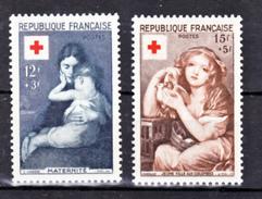 France 1006 1007 Croix Rouge 1954 Neuf Avec Trace De Charnière *  TB  MNH Sin Charnela Cote 18