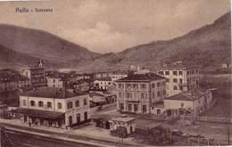 VENDO N.1 CARTOLINA DI AULLA(MS)LA STAZIONE FERROVIARIA,FORMATO PICCOLO VIAGGIATA NEL 1911 CON FRANCOBOLLO - Massa