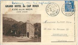 EZE SUR MER Carte Dépliant Avec Vues Hôtel Du Cap Roux