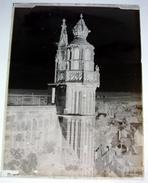Tour Saint Firmin Saint Vulfran Abbeville - Négatif Sur Plaque De Verre 9X12cm Env - Bien Lire Descriptif - Glass Slides