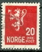Norwegen 20 Ö. + 35 Ö. Gest. Wappen Löwe