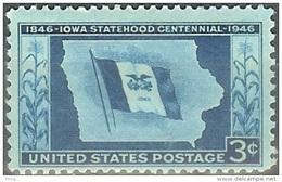 1946 3 Cent Iowa, Mint Never Hinged