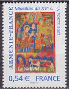 Timbre Neuf ** N° 4058(Yvert) France 2007 - Arménie-France, Miniature Du XVe Siècle