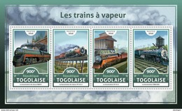 TOGO 2016 - Steam Trains. Official Issue.