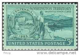 1953 3 Cents Washington Mint Never Hinged