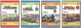 NEVIS - 1985 -  Trains  - Yvert 279/286  Neufs ** - Amérique Centrale