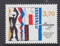 France 1987 Le Corbusier 1v ** Mnh (FR155A)
