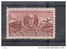 USA 1950 3 Cents Casey Locomotives Mint Never Hinged