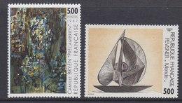 France 1987 Art  Camille Bryen & Pevsner 2v ** Mnh (FR155B)