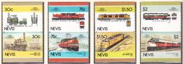 NEVIS - 1986 -  Trains  - Yvert 353/360  Neufs ** - Amérique Centrale
