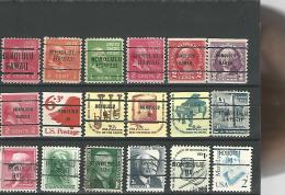 36829 ) USA Precancel Collection Hawaii