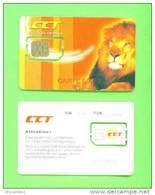 CONGO DR (KINSHASA) - Mint/Unused SIM Phonecard With Chip/CCT Lion - Congo