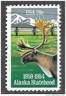 1984 20 Cents Alask Statehood, Used