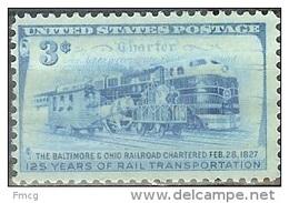 USA 1952 3 Cents B&O Railroad Mint Never Hinged