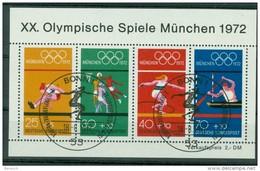 BUND - Block Mi-Nr. 8 Olympische Sommerspiele München 1972 Gestempelt BONN
