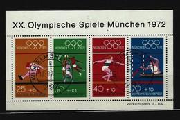 BUND - Block Mi-Nr. 8 Olympische Sommerspiele München 1972 Gestempelt WILHELMSHAVEN
