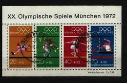 BUND - Block Mi-Nr. 8 Olympische Sommerspiele München 1972 Gestempelt MÜNCHEN FLUGHAFEN