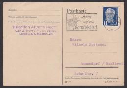"""DDR 12 Pf Wilhelm Pieck MWSt. """"Achtet Auf Den Kartoffelkäfer"""" Leipzig Geprüft BPP, Va Wz 2XII"""