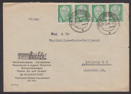 DDR 5 Pf(4) Wilhelm Pieck, OSt. Halberstadt Geprüft BPP MiNr. 322  B Wz 2XI, Musikhaus Buchfa